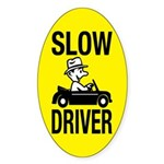 Slow Driver Oval Sticker (10 pk)