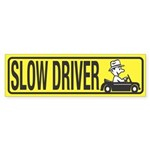 Slow Driver Bumper Sticker (50 pk)