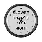 Slower Traffic Large Wall Clock