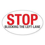 Stop Blocking Oval Sticker (10 pk)
