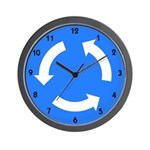 Roundabout Sign - Wall Clock