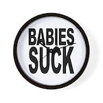 Babies Suck Wall Clock