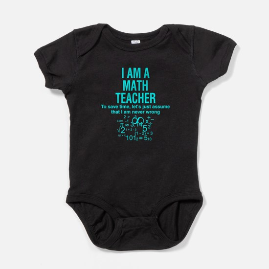 I Am A Math Teacher T Shirt Body Suit