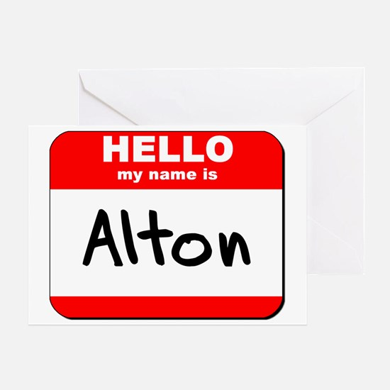 Hello my name is Alton Greeting Card