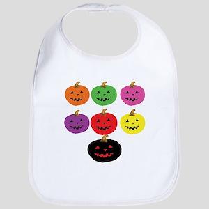 Colorful Pumpkins Bib