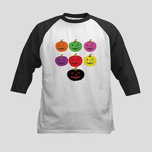 Colorful Pumpkins Kids Baseball Jersey