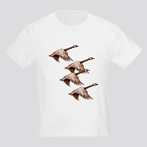 Canada Geese Flying Kids T-Shirt