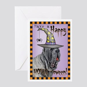 Halloween Mastino Greeting Card