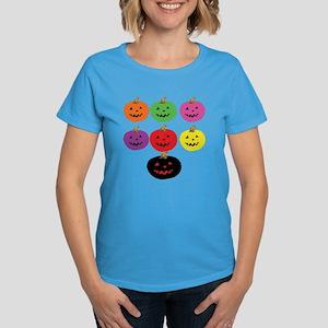 Colorful Pumpkins Women's Dark T-Shirt