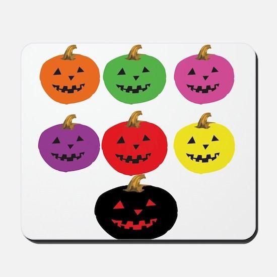 Colorful Pumpkins Mousepad