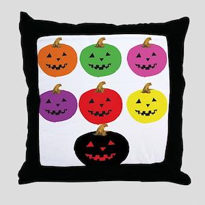 Colorful Pumpkins Throw Pillow