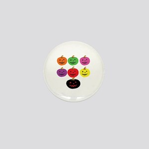 Colorful Pumpkins Mini Button