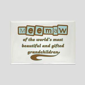 Meemaw of Gifted Grandchildren Rectangle Magnet