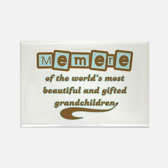Memere of Gifted Grandchildren Rectangle Magnet