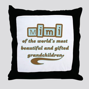 Mimi of Gifted Grandchildren Throw Pillow