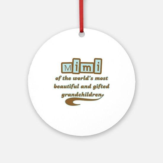 Mimi of Gifted Grandchildren Ornament (Round)