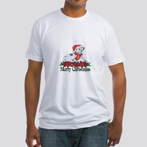 Poinsettia Dalmatian Fitted T-Shirt