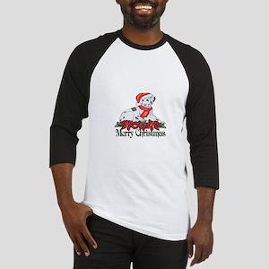 Poinsettia Dalmatian Baseball Jersey