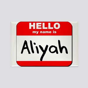 Hello my name is Aliyah Rectangle Magnet
