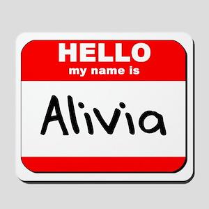 Hello my name is Alivia Mousepad