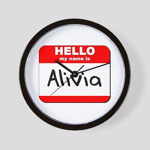 Hello my name is Alivia Wall Clock