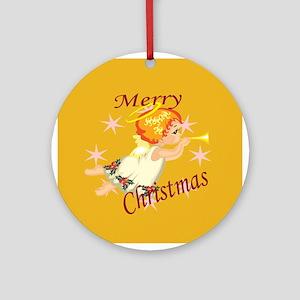Christmas Angel Ornament (Round)