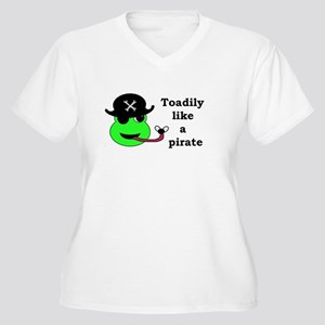 TOADILY LIKE A PIRATE Women's Plus Size V-Neck T-S