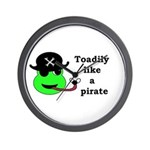 TOADILY LIKE A PIRATE Wall Clock