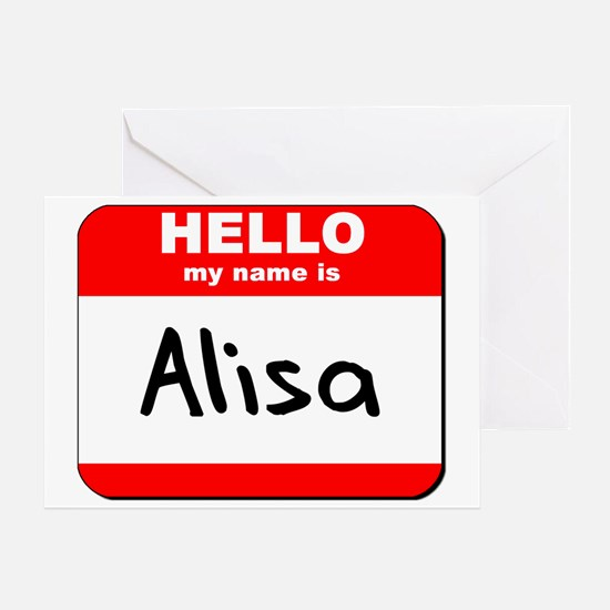 Hello my name is Alisa Greeting Card