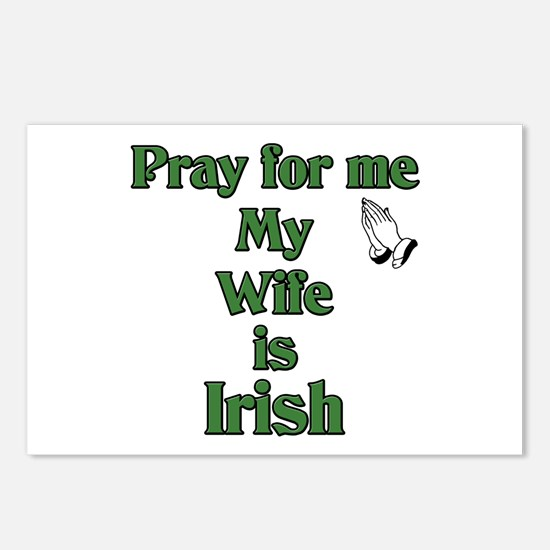 Pray For Me My Wife Is Irish Postcards (Package of