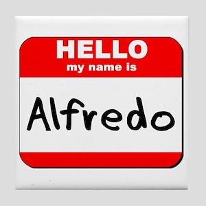 Hello my name is Alfredo Tile Coaster