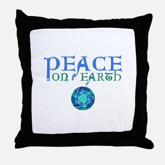 Celtic Peace on Earth Throw Pillow
