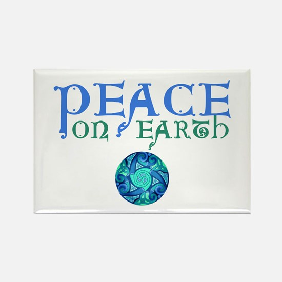 Celtic Peace on Earth Rectangle Magnet (10 pack)