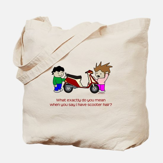 Scooter Hair Tote Bag