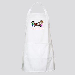 Scooter Hair BBQ Apron