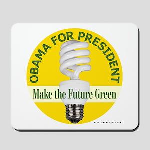 Barack Obama Yellow Bulb Mousepad