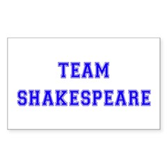 Team Shakespeare Rectangle Decal