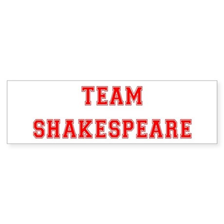 Team Shakespeare Bumper Sticker