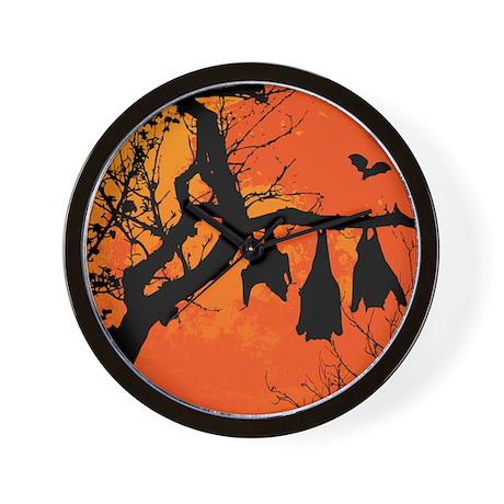 Bat Moon Wall Clock