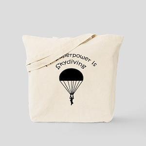 My Superpower is Skydiving Tote Bag