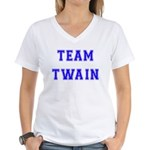 Team Twain Women's V-Neck T-Shirt