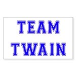 Team Twain Rectangle Sticker