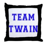 Team Twain Throw Pillow