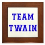Team Twain Framed Tile
