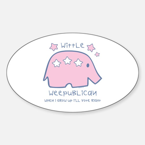Wittle Weepublican Oval Decal