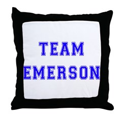 Team Emerson Throw Pillow