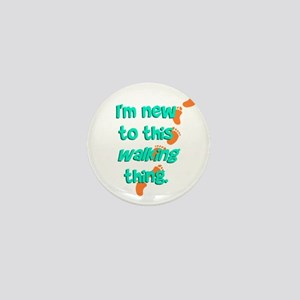 New to Walking Mini Button