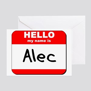 Hello my name is Alec Greeting Card