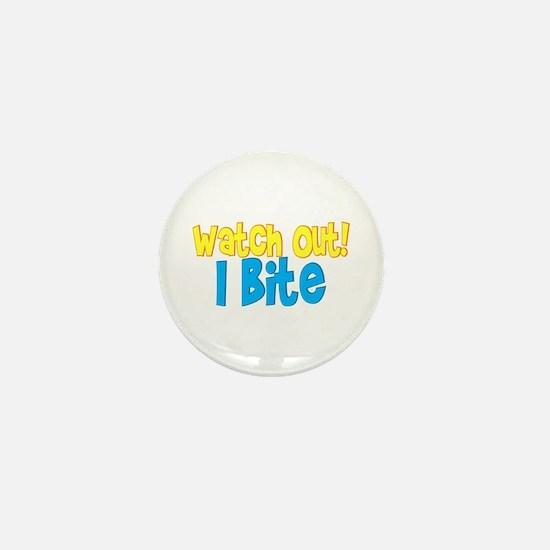 I bite Mini Button