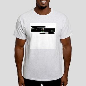 peeracy NOT piracy Ash Grey T-Shirt
